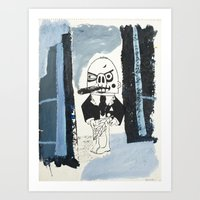 smoker in the forest Art Print