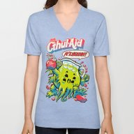 Unisex V-Neck featuring CTHUL-AID by BeastWreck