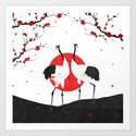 Love's Dance - Spring Version Art Print