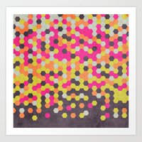 Honeycomb   Abyss Art Print