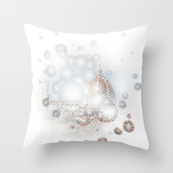 rain drops on Florence Throw Pillow