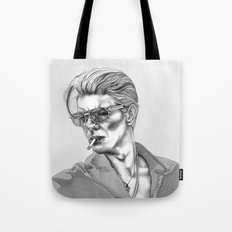 Black and White Bowie  Tote Bag