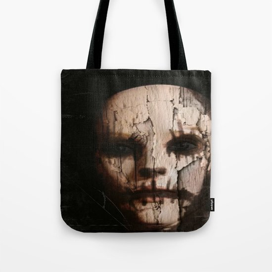 creepy face paint Tote Bag