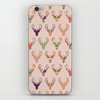 Retro Deer Head Blush iPhone & iPod Skin