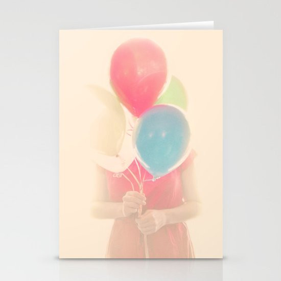 Balloon Girl Stationery Card