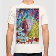 Betty White Mens Fitted Tee Natural SMALL
