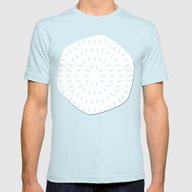 PCT2 Fractal In Ice Blue… Mens Fitted Tee Light Blue SMALL