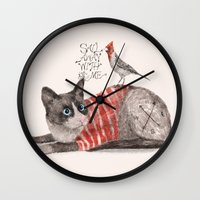 Snowshoes & Littlebird Wall Clock
