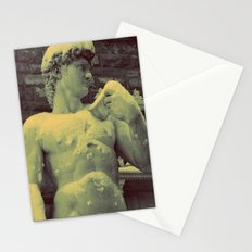 David Statue in Florence on a Snowy Day Stationery Cards