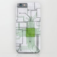 Circuit board green iPhone 6 Slim Case
