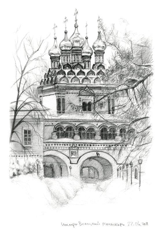 Winter Joseph-Volokolamsk Monastery SK031 Art Print