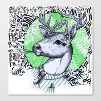 Deer in Dress Code  Canvas Print