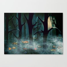 The Woods at Night Canvas Print