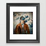 Framed Art Print featuring The Tempest by Christian Schloe
