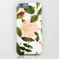 iPhone Cases featuring Leaves + Dots by Anna Dorfman