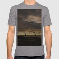 Waiting on the Sun to set Mens Fitted Tee Athletic Grey SMALL