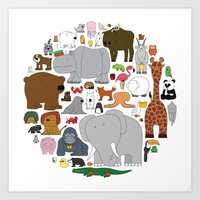 The Animal Kingdom Art Print