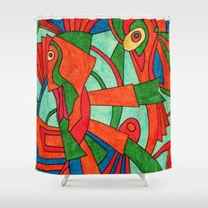 - faces S - Shower Curtain