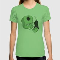 Bullet In The Head Womens Fitted Tee Grass SMALL