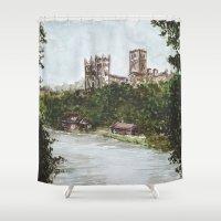 Durham view Shower Curtain