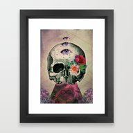 Framed Art Print featuring Mystique Of Life by LuzazulArt