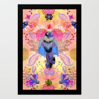 Blissful Birds Art Print