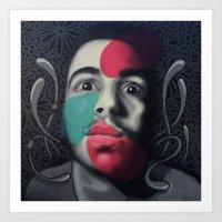 Colour Pressure autorretrato Art Print