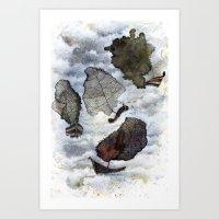 ship Art Prints featuring Ship by Andreas Derebucha