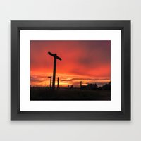 Signs For Sunset Framed Art Print