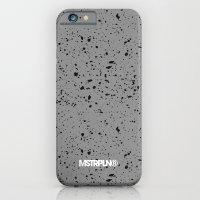 Retro Speckle Print - Grey iPhone 6 Slim Case