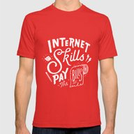 Pay The Bills Mens Fitted Tee Red SMALL