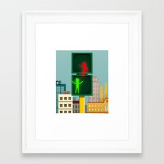 Let's be friends! Framed Art Print