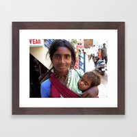 Indian Poor Woman Framed Art Print