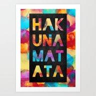 Art Print featuring Hakuna Matata by Elisabeth Fredriksso…