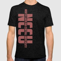 North Carolina Central University Mens Fitted Tee Tri-Black SMALL