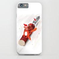 Christmas fox, bear and raccoon iPhone 6 Slim Case