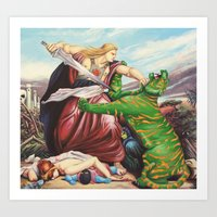 By The Power of Retribution Art Print