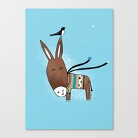 Happy Donkey Canvas Print