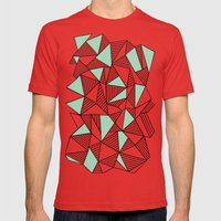 Abstraction Lines With M… Mens Fitted Tee Red SMALL