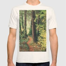 path Mens Fitted Tee Natural SMALL