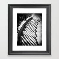 Stairway Shadows Framed Art Print