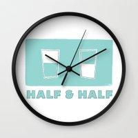 Half & Half Wall Clock