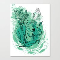 THE WOODS WHERE YOU LIVE. Canvas Print