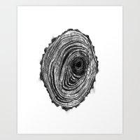 Tree Rings - Dark Art Print