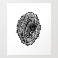Tree Rings - Dark Art Print