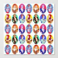 Glam Bowie Pattern  Canvas Print