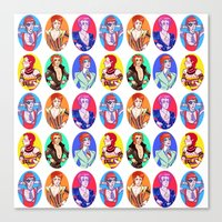 Glam Bowie pattern  Canvas Print