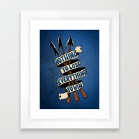 Nothing To Lose Framed Art Print