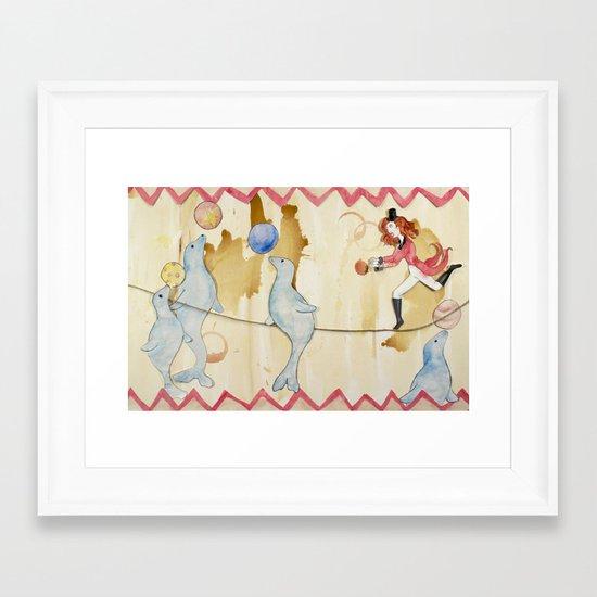 Circus: Seals Framed Art Print