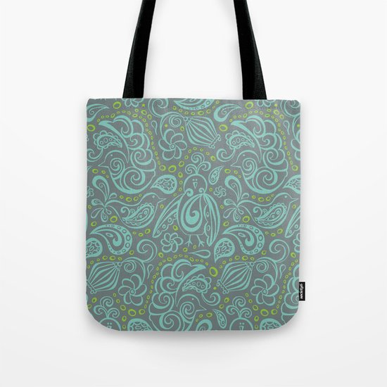 Festooned Feathered Friends Tote Bag